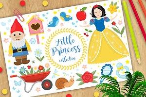 Cute fairytale princess snow white