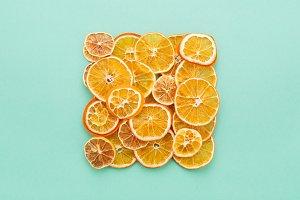 Dried citrus slices lemons & oranges