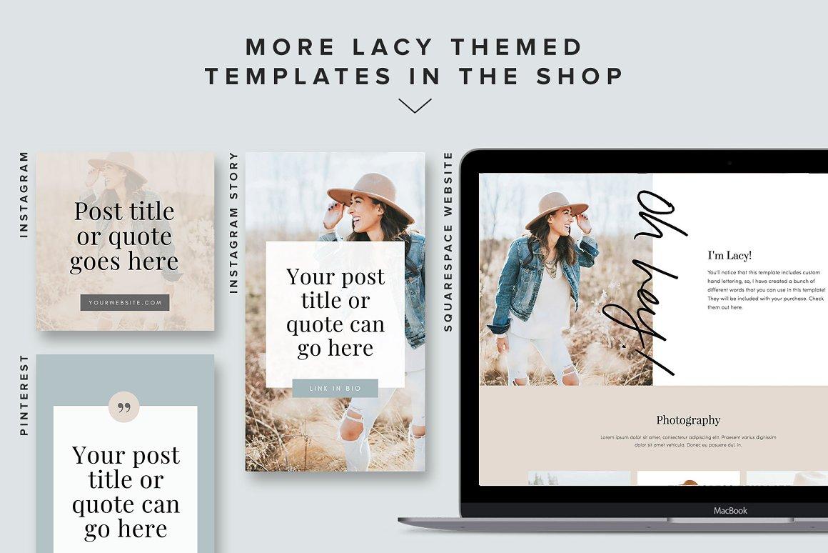 Pinterest Templates: Lacy