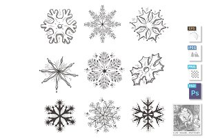 Hand drawn illustration of Snowflake