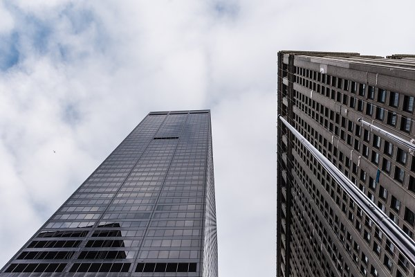 Stock Photos: Architect´s eye - Low angle view of skyscrapers in