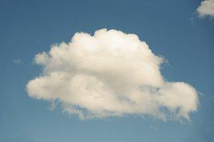 One cloud among blue sky