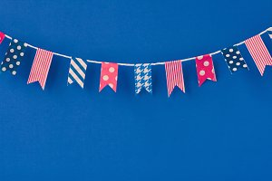 Washi Tape Flags Background