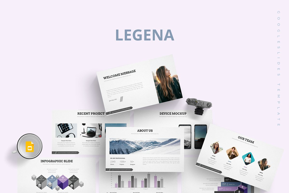 Legena - Google Slides Template ~ Google Slides Templates ~ Creative
