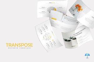 Transpose - Keynote Template