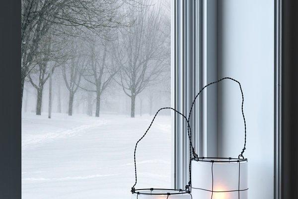 Holiday Stock Photos: Studio Light & Shade - Cozy lanterns on a windowsill