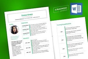New Resume CV docx Template