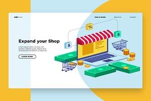 Laptop Shop - Banner & Landing Page