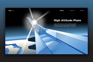 Plane View - Banner & Landing Page