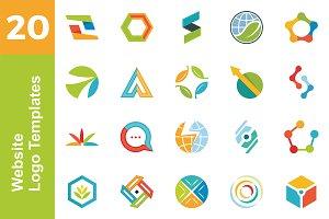 20 Logo Website Templates Bundle