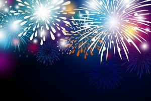 Colorful fireworks background design