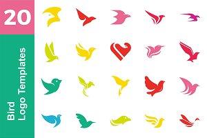 20 Logo Bird Templates Bundle
