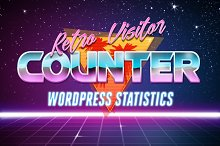 Retro Visitor Counter For WordPress