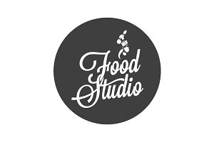 Food studio vintage avatar on white.