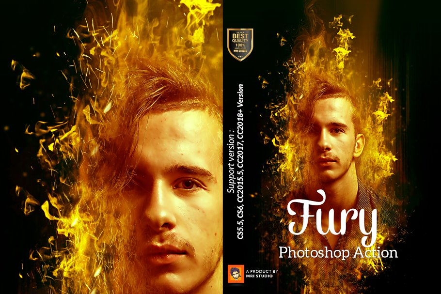 Fury Photoshop Action