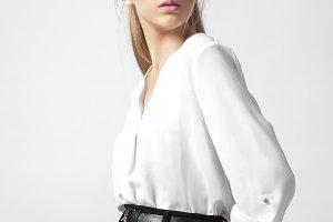 Beautiful woman studio portrait on