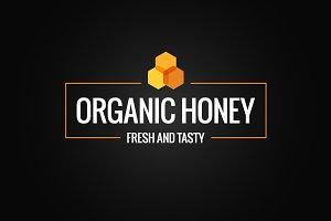 Honey comb border. Organic honey.