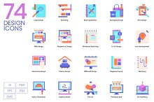 74 Creative Design Icons by  in Icons