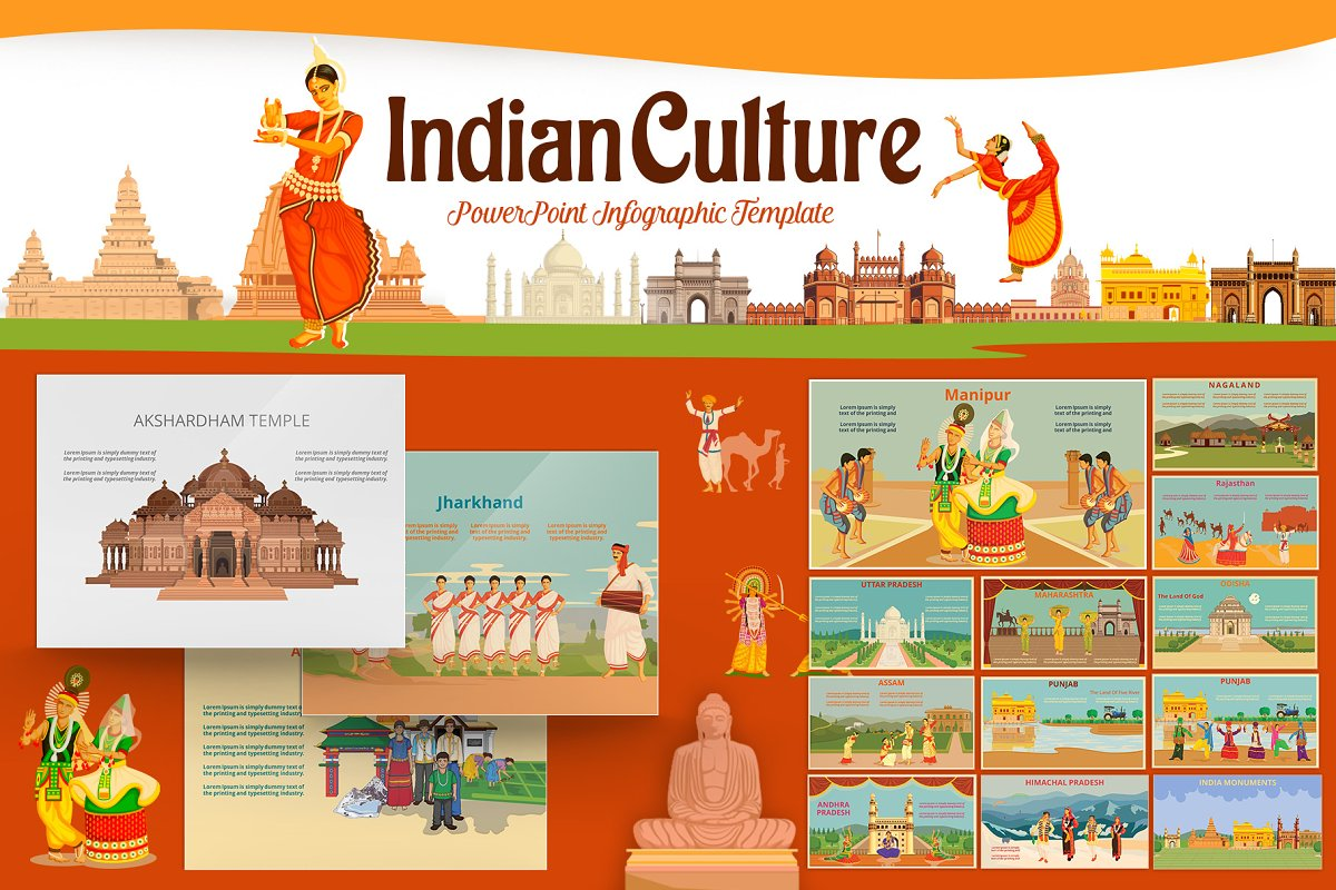 Indian Culture PowerPoint Template ~ PowerPoint Templates
