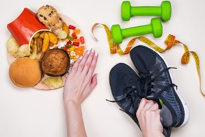 Junk food and sport accessories