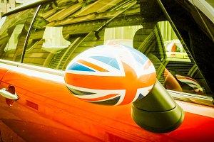 Brit car vintage retro