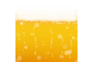 Beer background with realistic
