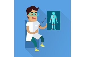 Doctor at Work Vector Flat Style