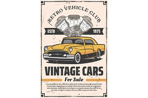 Retro cars sale, rental and repair