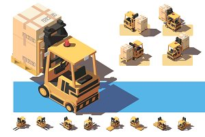 Forklift with transportation of a bo