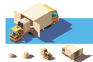 Shipment in a small truck
