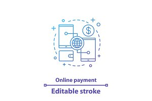 Online payment concept icon