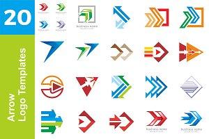 20 Logo Arrow Templates Bundle