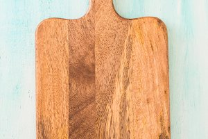 Chopping wooden board background