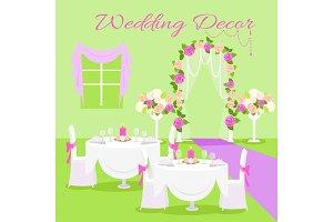 Wedding Ceremony Decor Flat Design