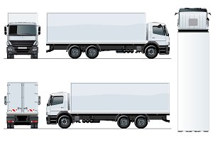 Vector truck template isolated