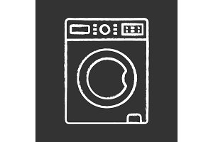 Washing machine chalk icon