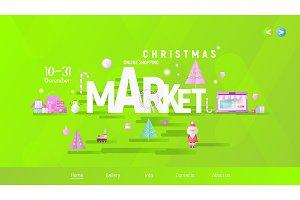 Christmas Fair Landing Page