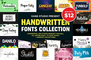 YEAR END SALES! Fonts + Graphics
