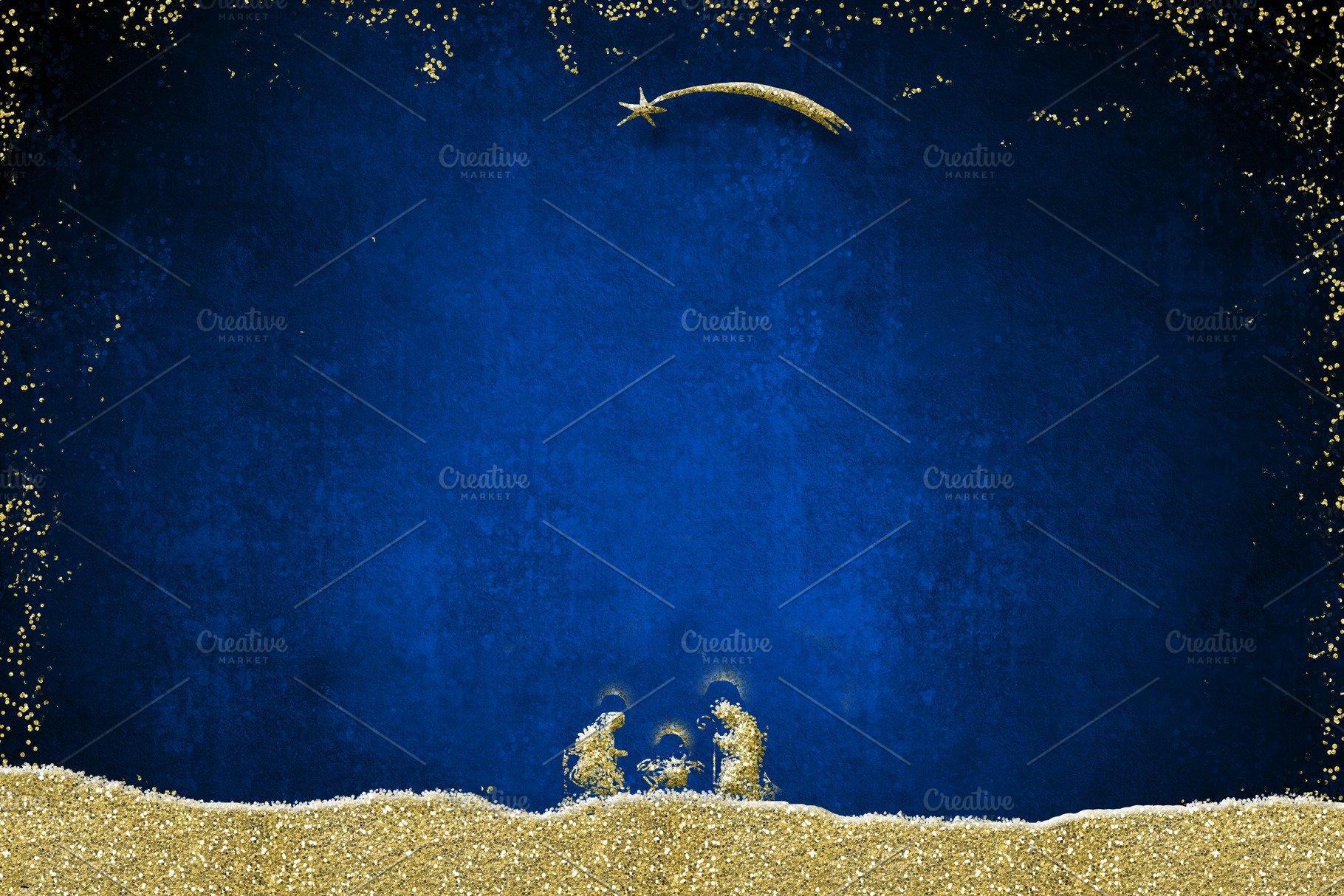 Christmas Nativity Scene Backgrounds Photos Creative Market