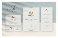 Beryl • Wedding Invitation Suite by  in Invitations