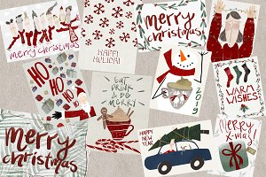 Pack of 12 Christmas Cards