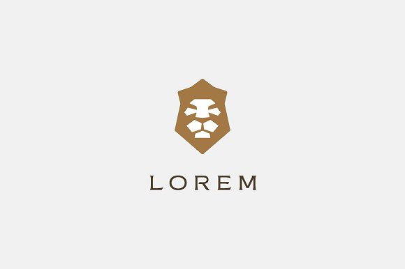 Lion Crown Logo Design Templates Creative Market