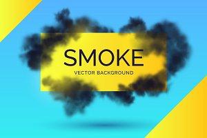 Smoke vector background