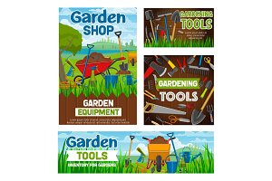 Gardening tools, agriculture shop