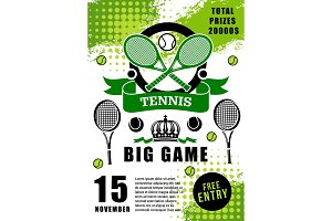 Tennis sport game tournament