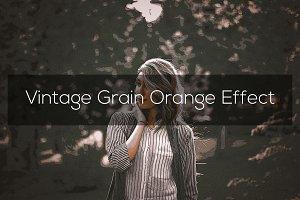 Vintage Grain Orange Effect