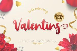 Valentins + Bonus 2 Font
