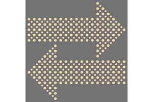 Fine Vector Dotted Arrows