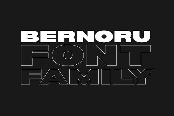 Fonts - Bernoru Sans Font Family