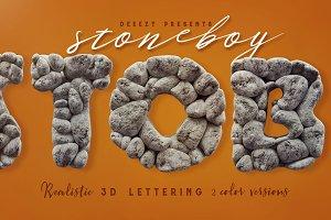 Stoneboy- 3D Lettering